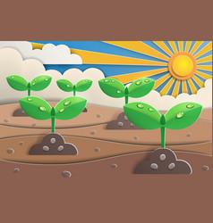 plantation paper art vector image
