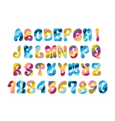 Psychedelic font with colorful pattern Vintage vector