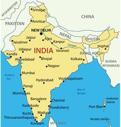 Republic of India - map vector