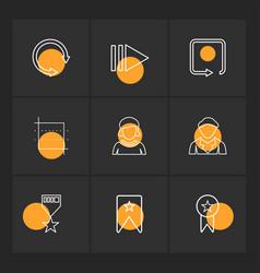 Reset avtar badge medal arrows directions vector