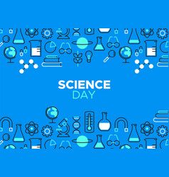 Science day outline icon vector
