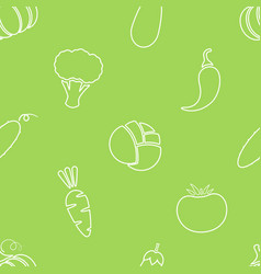 seamless silhouette vegetable background design vector image