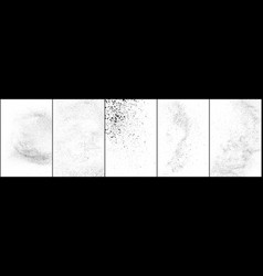 Set distressed black texture vector