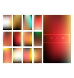Set of soft color gradients background vector
