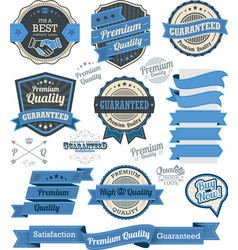 set vintage badges and design elements vector image