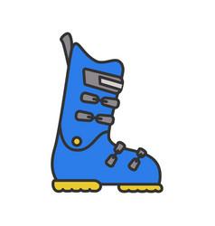 ski or snowboard boot color icon vector image