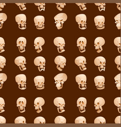 Skull bones human face halloween horror crossbones vector