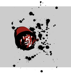 Soldier with blood drops vector