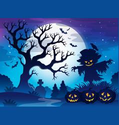 Spooky tree theme image 6 vector