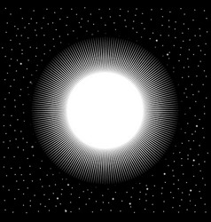Star on cosmic background vector