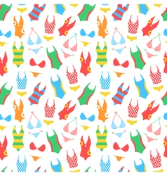 summer bright pattern with woman swimsuits vector image