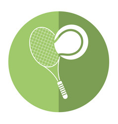 tennis ball racket sport shadow vector image
