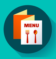 three-fold menu icon template flat style vector image