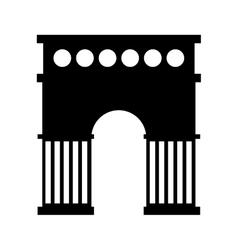 Triumph arch isolated icon vector