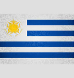 Uruguay flag background for russian soccer event vector