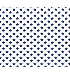 usa style seamless pattern blue stars on white vector image