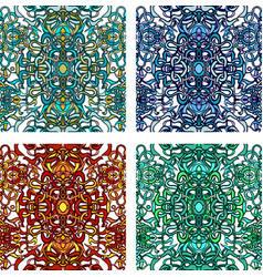 Vecor set of colorful abstract seamless pattern vector