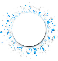 White background with blue confetti vector