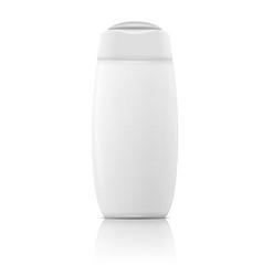 White shampoo bottle template vector