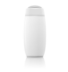 White shampoo bottle template vector image