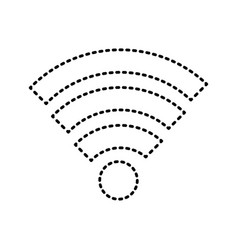 wireless sticker vector image
