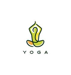 Yoga logo icon line outline monoline style vector