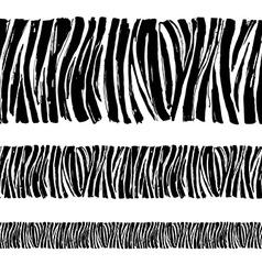 Zebra print seamless background border frame vector image