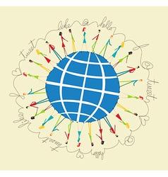 Global social media people vector image vector image