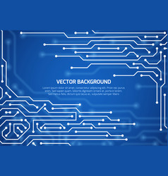 abstract cybernetic background with circuit vector image vector image