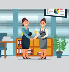 business people cooperation agreement handshake vector image vector image