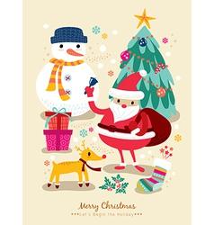 christmas santa claus cartoons vector image