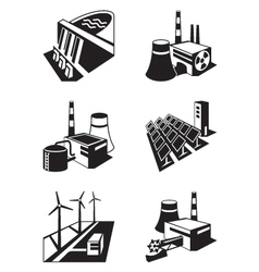 Different power plants vector