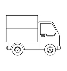 isolated merchandise truck vector image vector image
