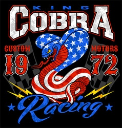 King cobra motor racing graphic vector
