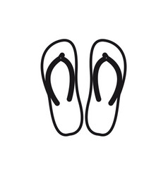 slippers line icon sign on vector image vector image