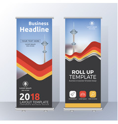 vertical roll up banner template design for vector image