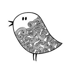 Zentangle stylized bird in for coloring vector image