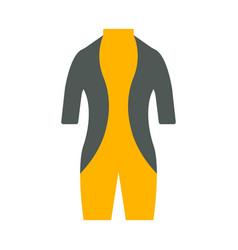 diving suit icon tourism equipment vector image