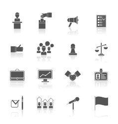 Elections icons set black vector image