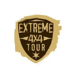 extreme emblem image vector image vector image