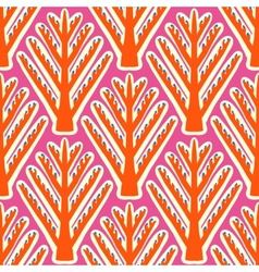 Ikat ethnic pattern with Kazakh motifs vector image vector image