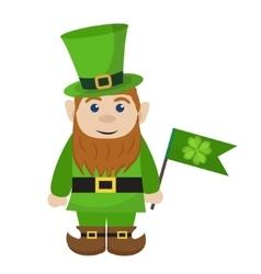 Leprechaun icon flat style St Patricks Day vector image vector image