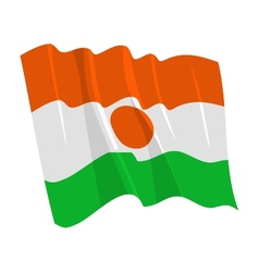 political waving flag of niger vector image