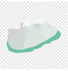 swiss alps isometric icon vector image