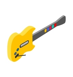 Toy electric guitar icon isometric 3d style vector image vector image