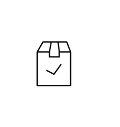 checked delivery box icon vector image vector image