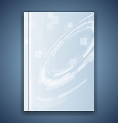 Metal blue folder template hi-tech element vector image vector image