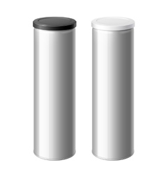 metal can set with a black and White lid vector image