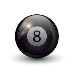 pool billiards eight ball vector image vector image