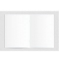 realistic blank dotted copy book spread vector image